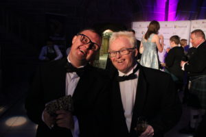 Danny Smith and Richard Hunt celebrate at National Diversity Awards in Liverpool