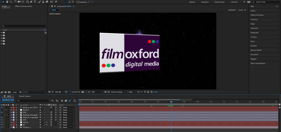 Adobe After Effects – Post-Production Video Effects