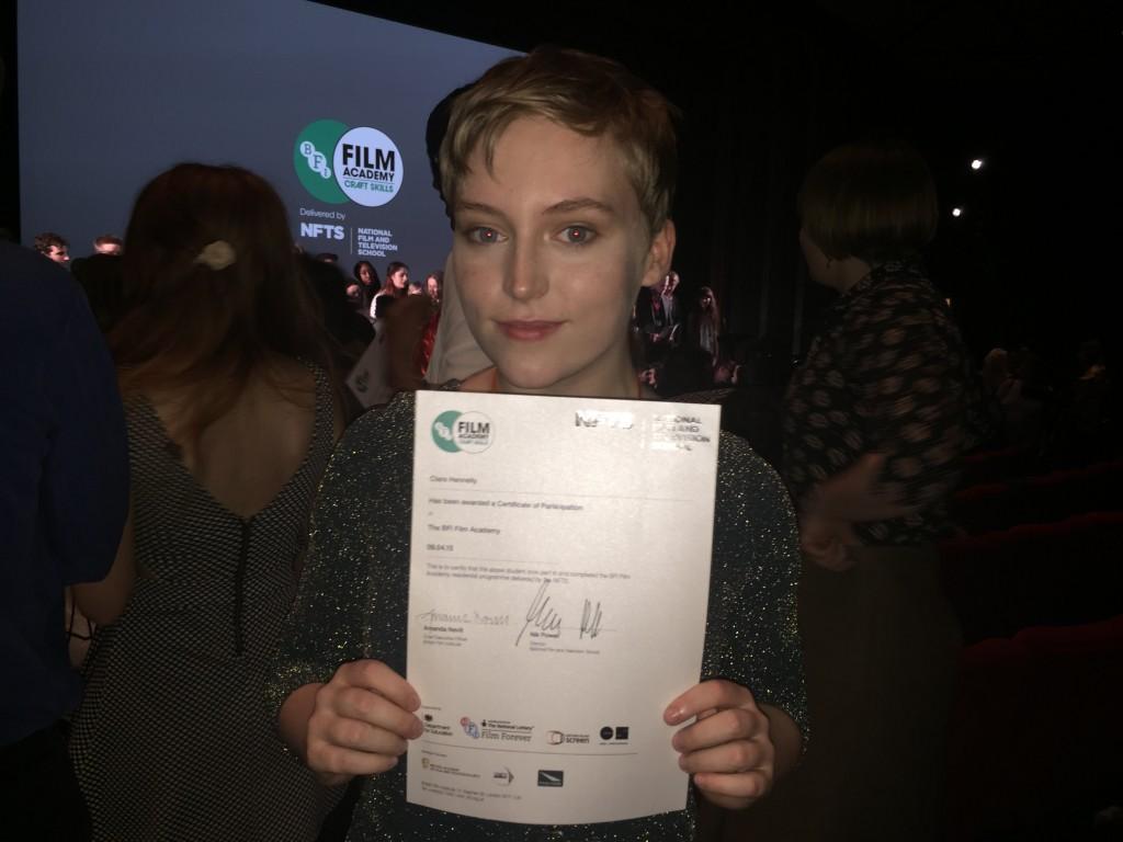 Clare BFI award